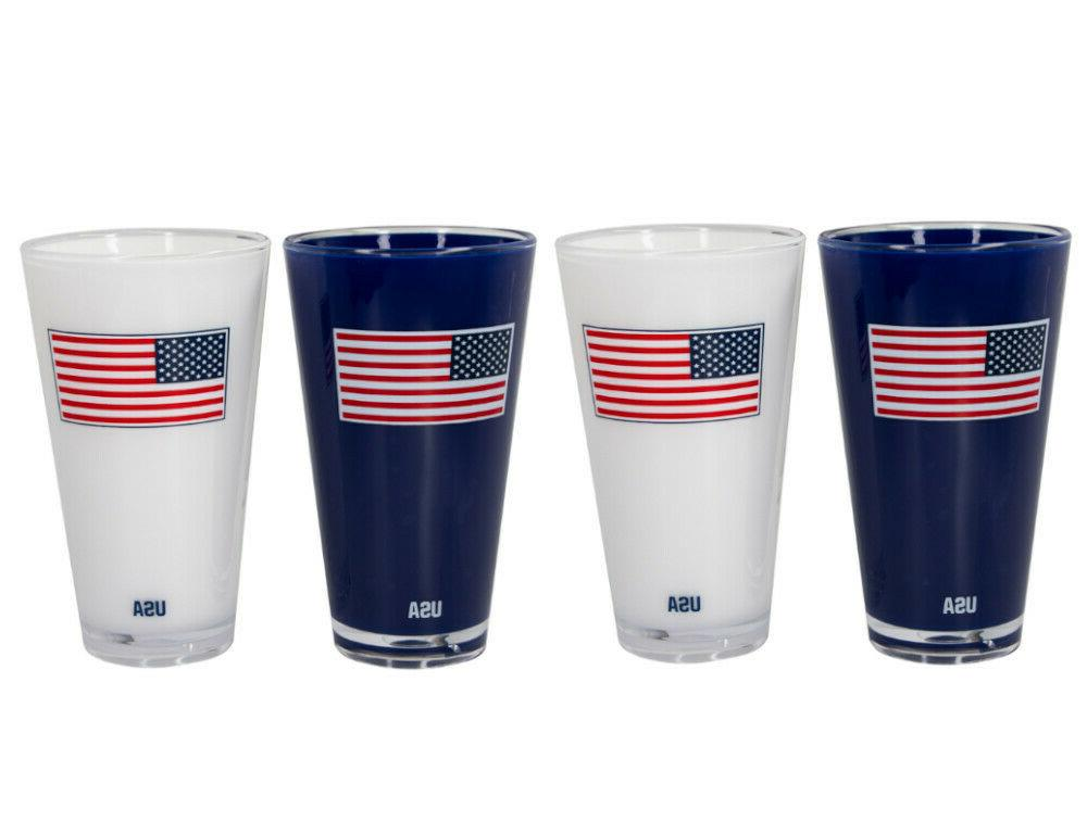 20 oz double wall insulated american flag