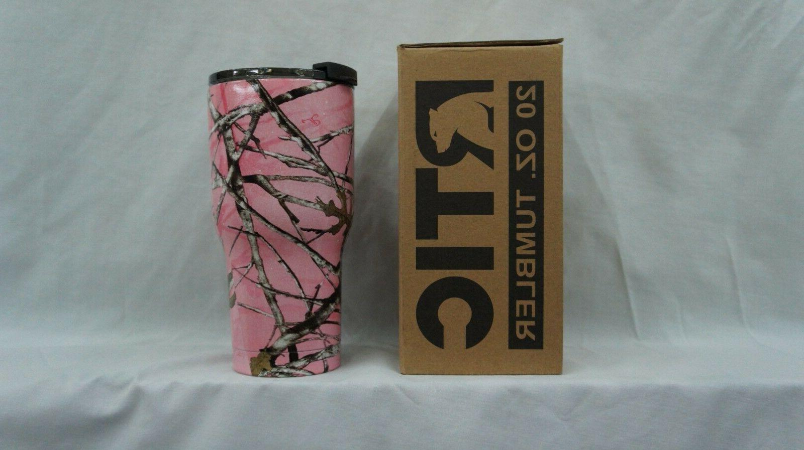 rtic 20 steel tumbler true timber pink camo