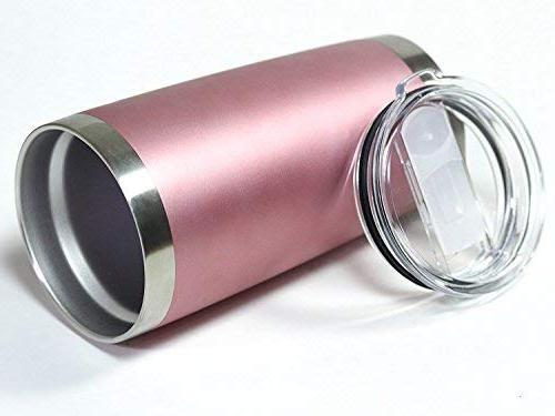 20 Tumbler with Splash Sliding Lid Premium Quality - Hot Cold - Rose 20 oz