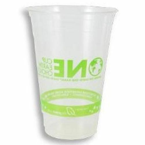 Karat 20oz Biodegradable Green PLA Cup 98mm Open 1000Pc