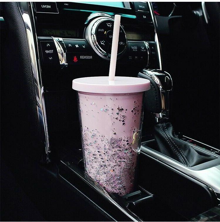 20oz Clear Mug Wall Cup Straw