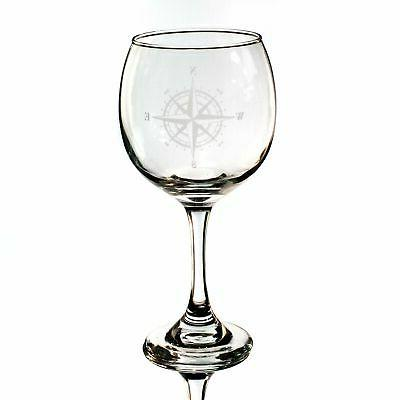 20oz compass rose wine glass l1