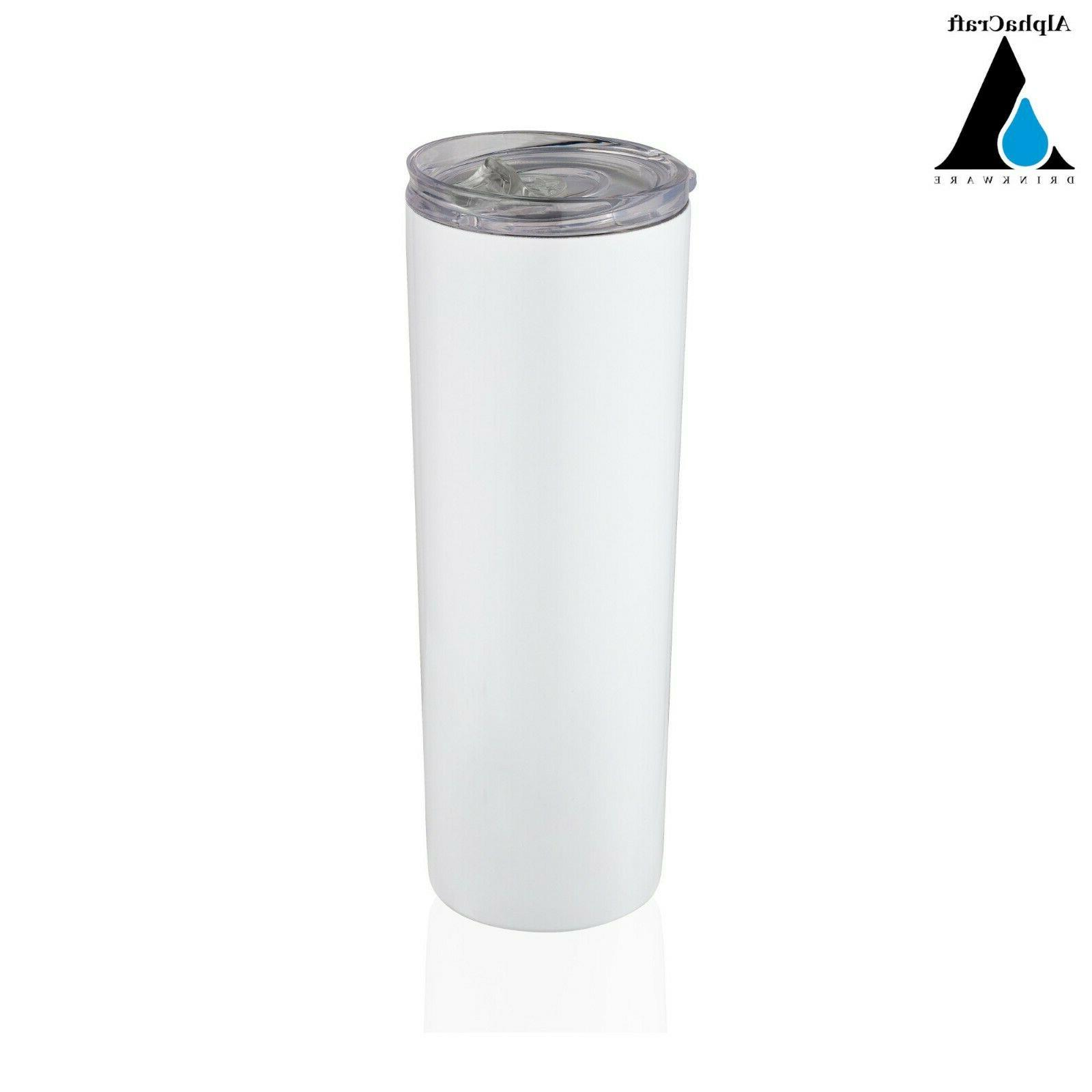 20oz Gloss Powder Coated Stainless Skinny Double Tumbler