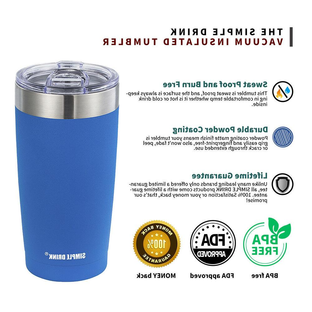 Simple Drink Tumbler with Splash-Proof Lid