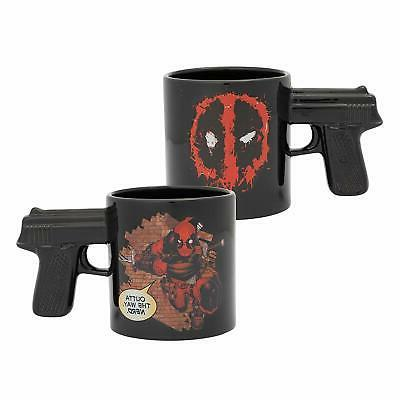 20oz sculpted gun handle marvel coffee mug