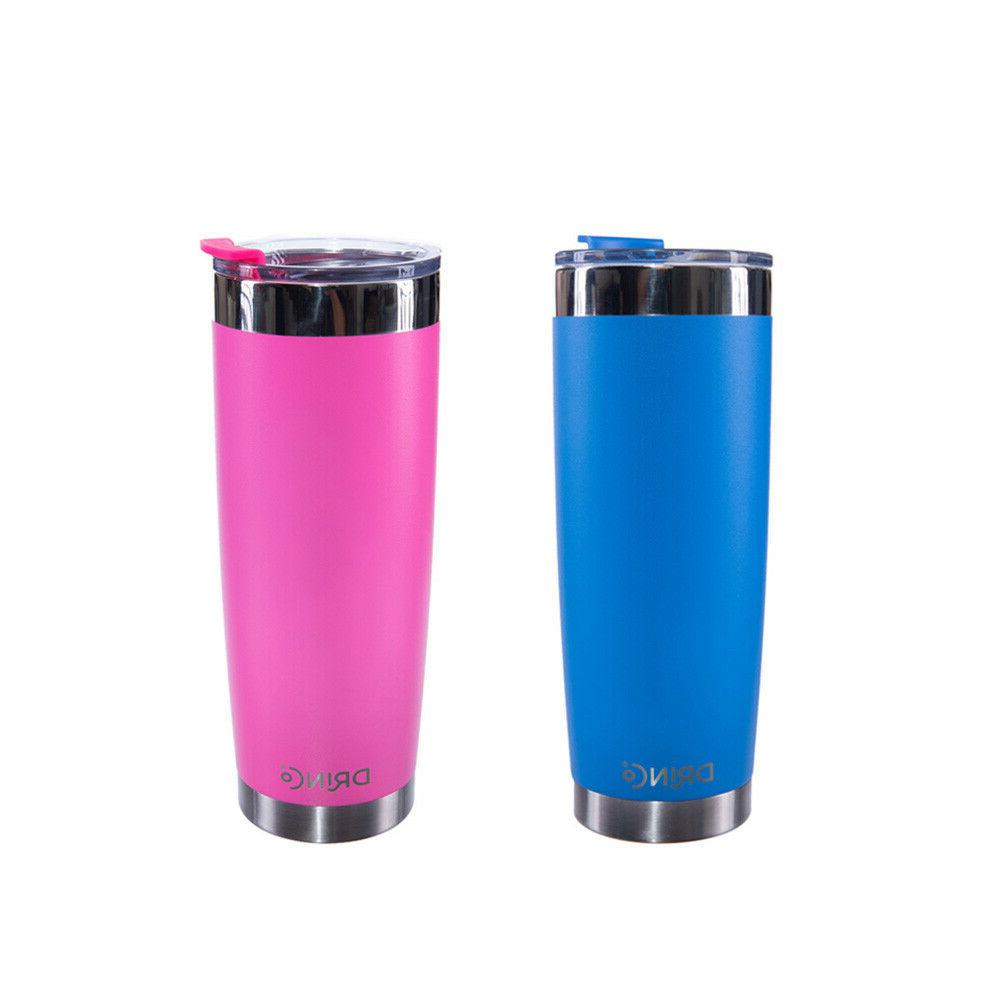 20oz Stainless Steel Tumbler Coffee Cup Vacuum Insulated Tra