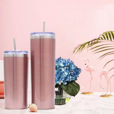20oz Tumbler Cup With Straw Lid Vacuum Free