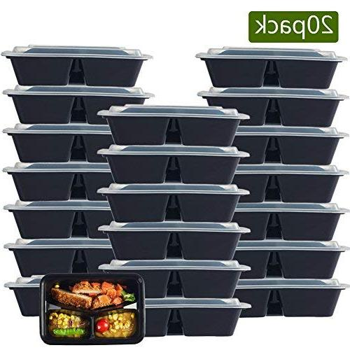 3 compartment meal prep plastic