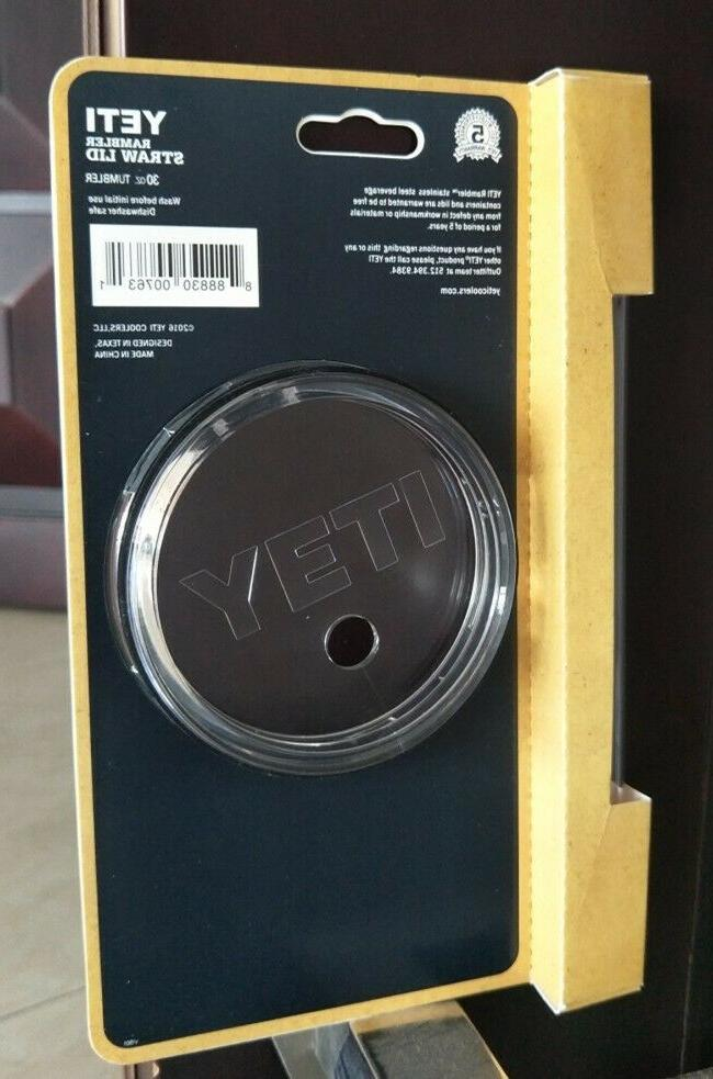 Yeti 30oz Rambler Tumbler Spill-Proof Dishwasher Replacement with Straw