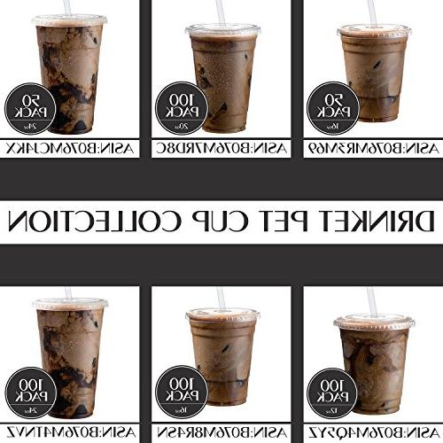 Cold Coffee | Cups with 20 Pack Pet Cups | for Cocktail Cups