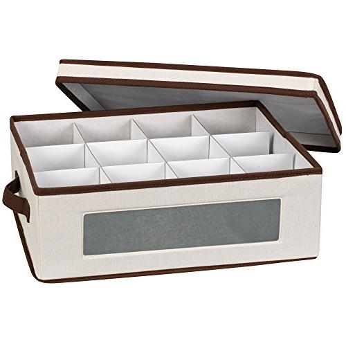 Household Essentials 538 Vision China Storage Box for Tea Cu