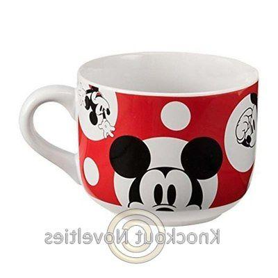 Vandor Mouse Soup Mug, White/Red