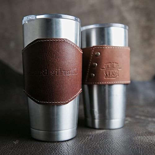 The Apollo Personalized 20 Oz Yeti Leather Drink