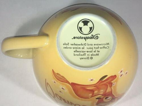 Bambi Lg Coffee Mug Soup Tea Yellow oz