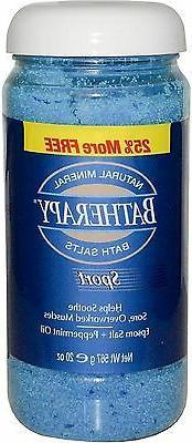 BATHERAPY Bath Salts, Sport 20 oz