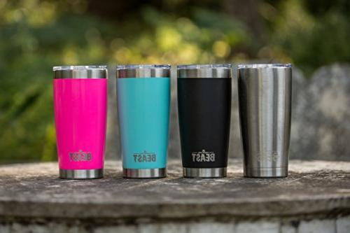 BEAST Tumbler Stainless Steel with Lid, 2 Brush by Greens