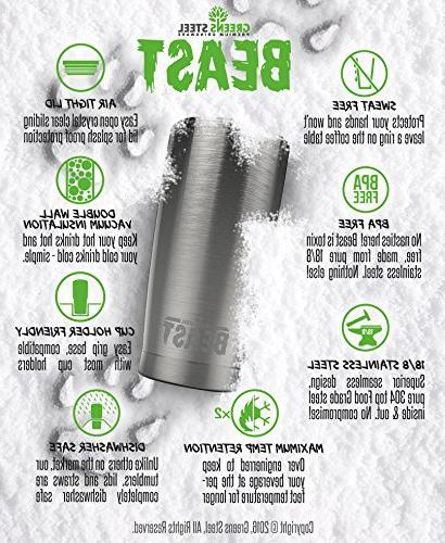 BEAST Tumbler Insulated Brush & by Steel