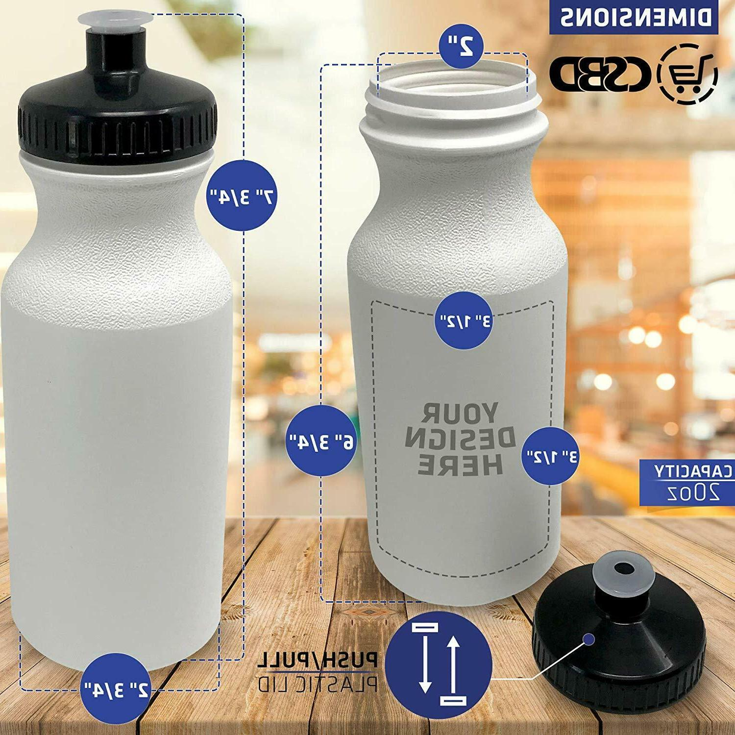 CSBD Blank 20 Sports and FitnessSqueeze WaterBottles, BPA