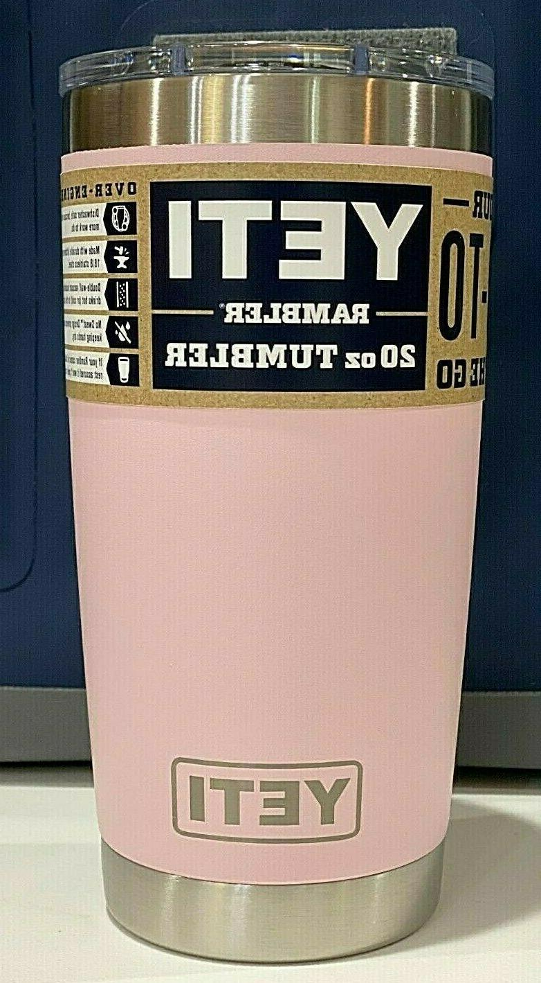 Brand New AUTHENTIC YETI Rambler 20 oz Tumbler with MagSlide