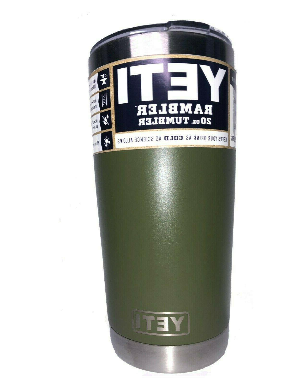 brand rambler 20oz tumbler cup with magnetic