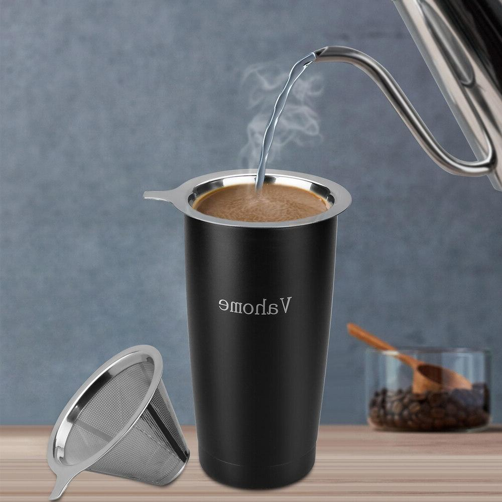Brewing Travel Coffee <font><b>20</b></font> <font><b>OZ</b></font> Travel 18/8 Steel Coffee Coffee