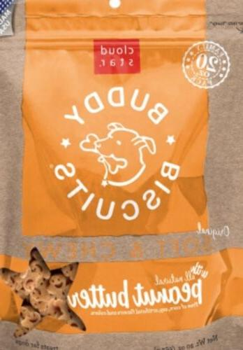 Cloud Star Buddy Biscuits Soft  Chewy Dog Treats  Peanut But