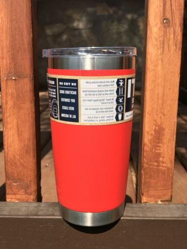 Yeti CANYON RED 20oz Rambler w/Mag - Retired Color