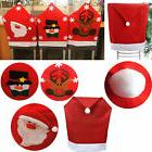 Chair Seat Covers Party Supplies For Santa Decoration Dinner