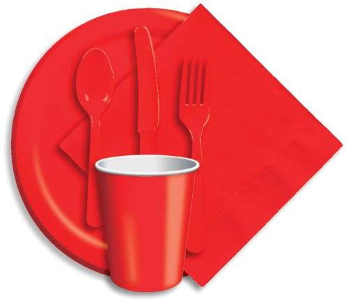 classic red paper cups