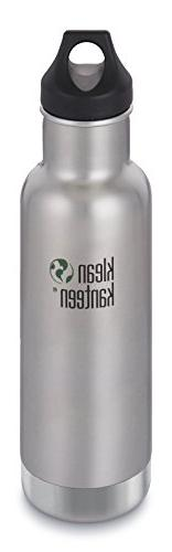 Klean Kanteen 20oz  Classic Vacuum Insulated  Brushed Stainl