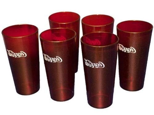 Coca-Cola (Lot of 6 Red 5220 Tumbler 20 oz. dishwasher safe,