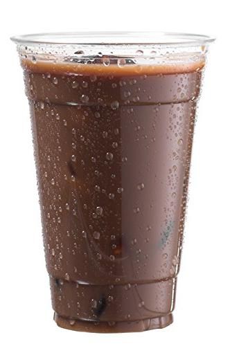 Cold Smoothie Cups Coffee Cups Cups | 20 Cups, 50 Pack Clear Disposable Pet Ideal for Cocktail