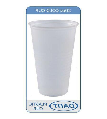 Dart Conex 20N 20oz Translucent Plastic Cold Cup 1000/case