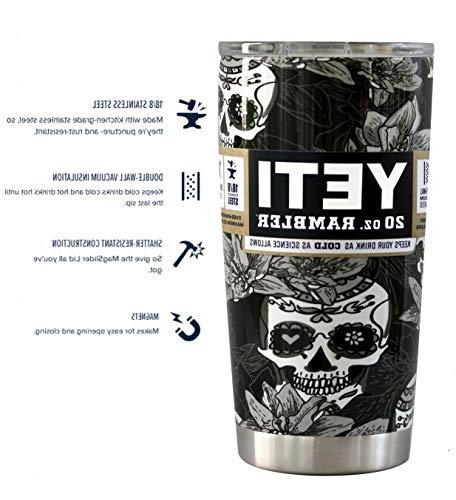 YETI 20 Custom Hydro Tumbler Travel Cup Mug Bundle with New
