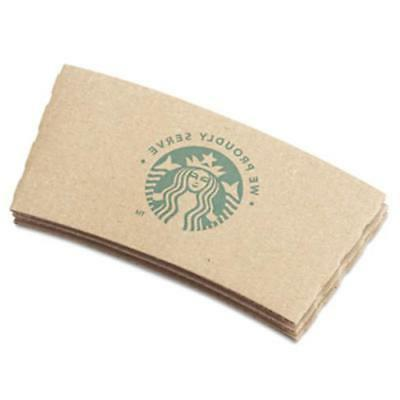 Starbucks Cup Sleeves For 12/16/20 oz Hot Cups Kraft 1380/Ca