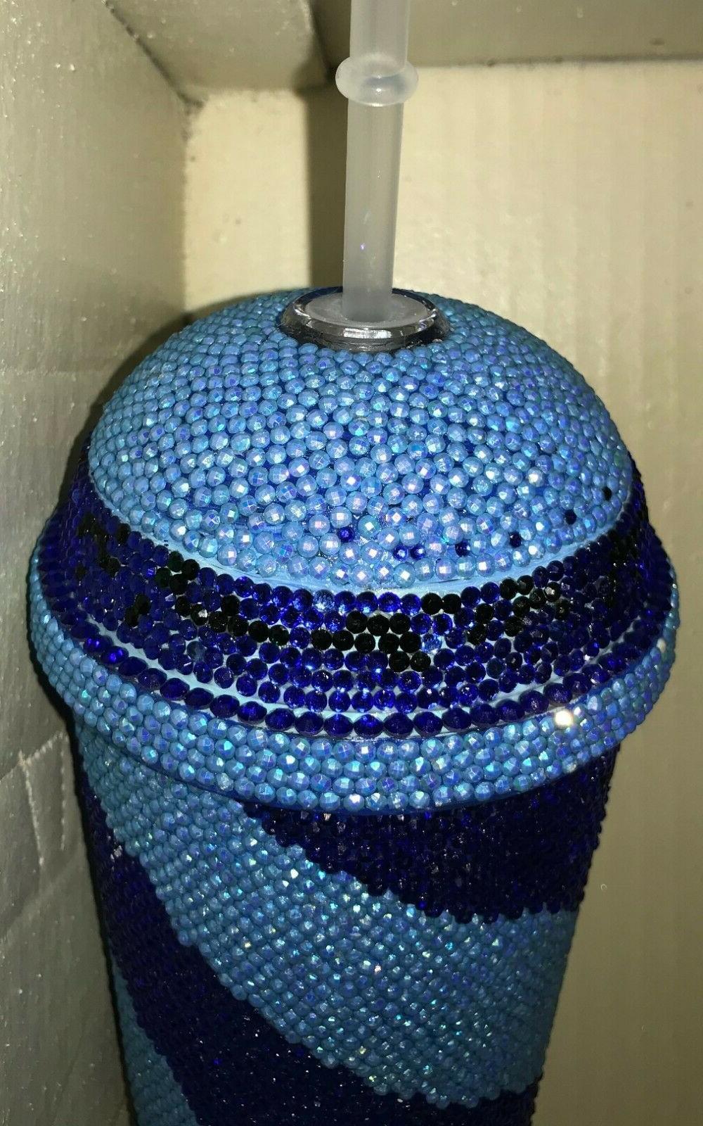 Custom Bling Tumbler Cup oz Swirl Option