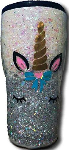 Custom Glitter Unicorn Tumbler Double Wall Vacuum Insulated