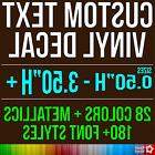 Custom Vinyl Lettering Decal Personalized Sticker Window Wal
