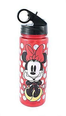 Disney Minnie Mouse 20oz Plastic Water Bottle w/ Screw Lid