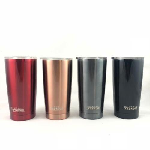 double wall stainless steel tumbler 20oz various
