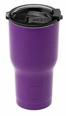 RTIC Double Wall Vacuum Insulated Tumbler, 20 oz, Purple