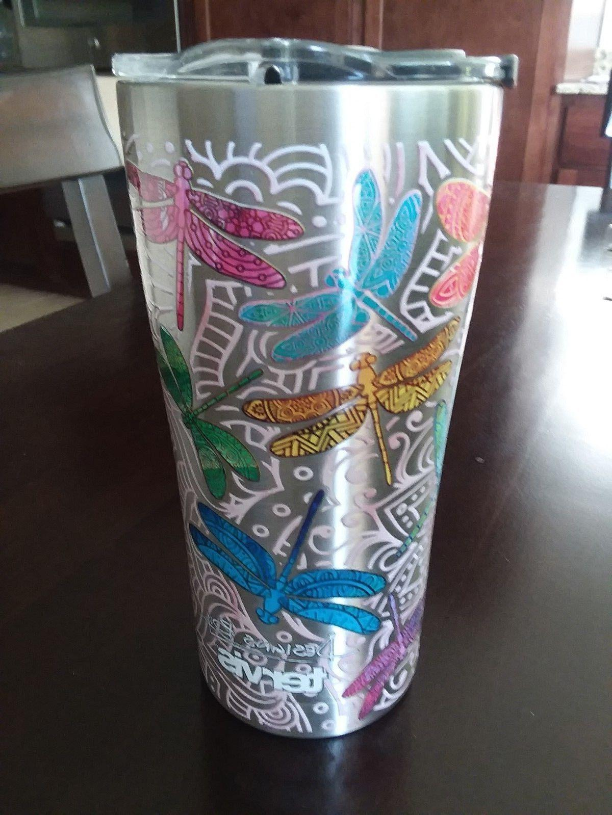 TERVIS DRAGONFLY  SIC Edge Stainless Steel 20 oz Tumbler wit