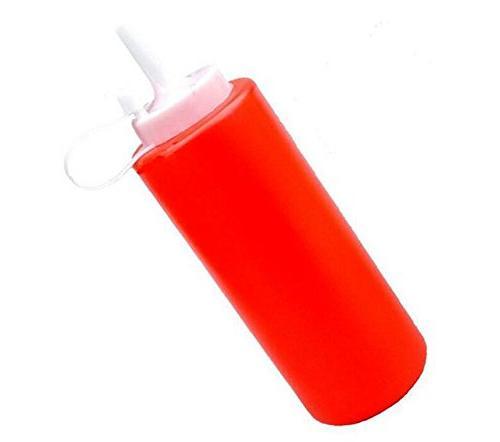 empty refillable plastic squeeze sauce