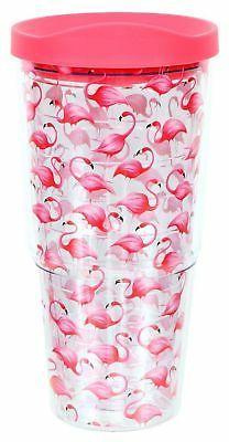 DEI Flamingo Insulated Plastic Tumbler,Pink,20 oz. New