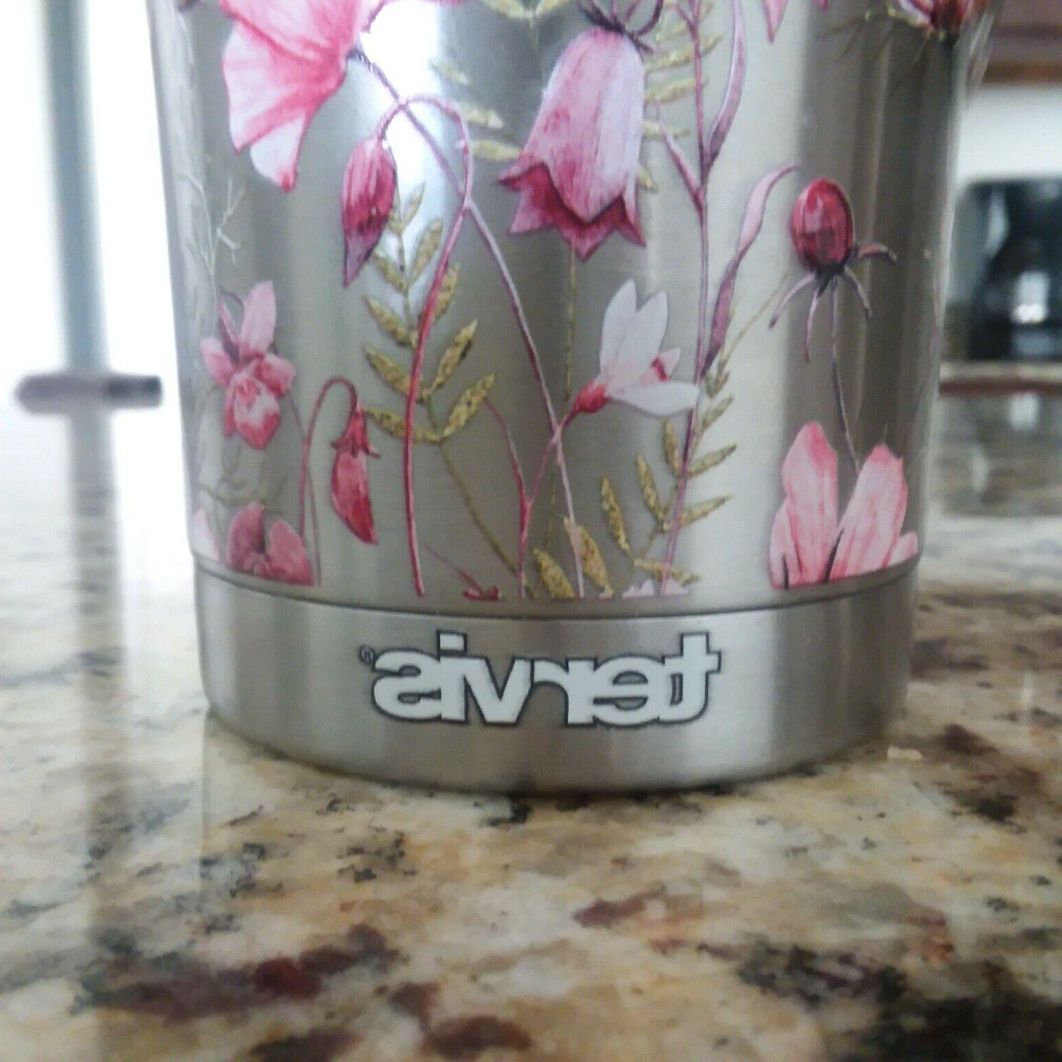 TERVIS FlowersSIC Stainless Tumbler with Flip
