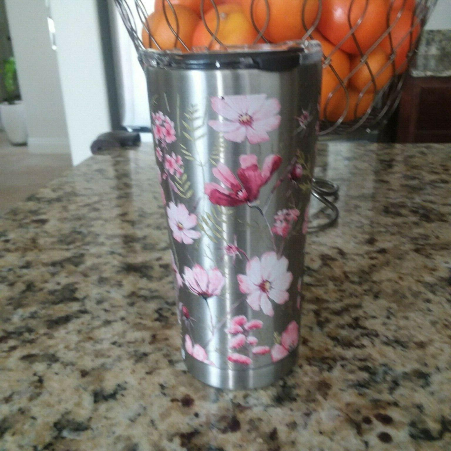 floral flowerssic edge stainless steel 20 oz