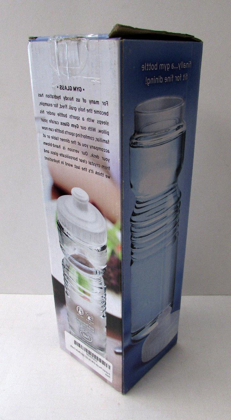 Fred Gym Glass oz Carafe Novelty Sport Water NEW