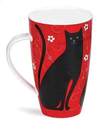 henley tall tails black mug