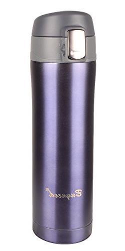 Insulated Stainless Steel Vacuum Flask Travel Coffee Mug Lea