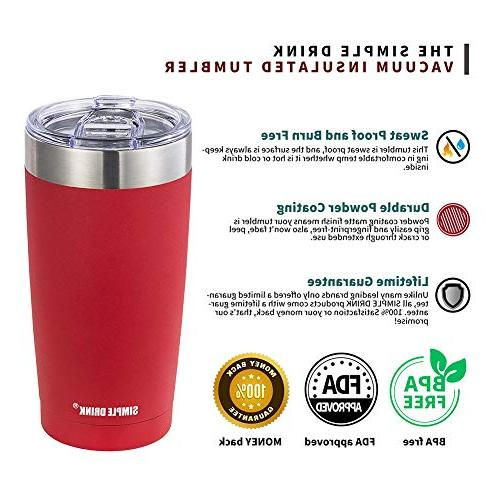 SIMPLE DRINK - Steel Travel Both Hot and Beverages, Powder Coated